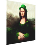 St Patrick's Day - Lucky Mona Lisa Canvas Print
