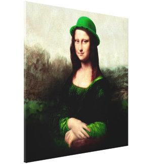 St Patrick's Day - Lucky Mona Lisa Canvas Print