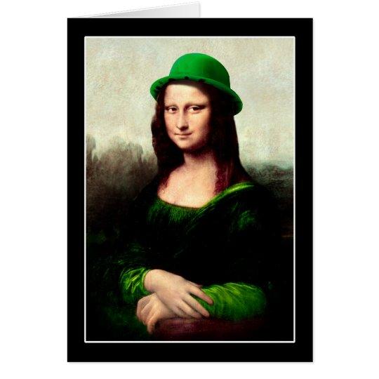 St Patrick's Day - Lucky Mona Lisa Card