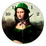 St Patrick's Day - Lucky Mona Lisa Clocks