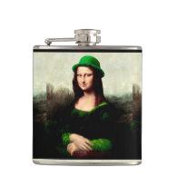 St Patrick's Day - Lucky Mona Lisa Flask
