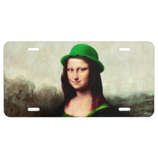 St Patrick's Day - Lucky Mona Lisa License Plate