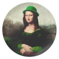 St Patrick's Day - Lucky Mona Lisa Plates