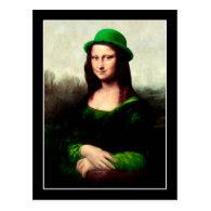 St Patrick's Day - Lucky Mona Lisa Postcard
