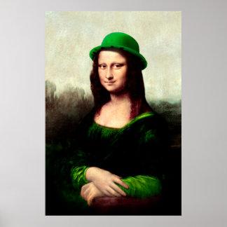St Patrick's Day - Lucky Mona Lisa Poster