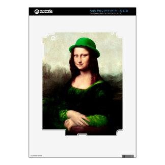 St Patrick's Day - Lucky Mona Lisa iPad 3 Decal