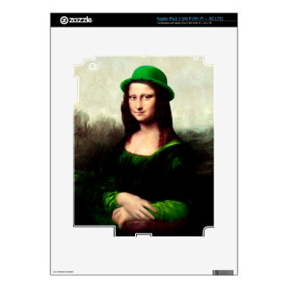 St Patrick's Day - Lucky Mona Lisa Skin For iPad 3