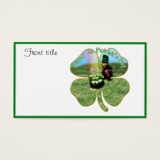 St. Patrick's Day Lucky Pot o' Beer Business Card