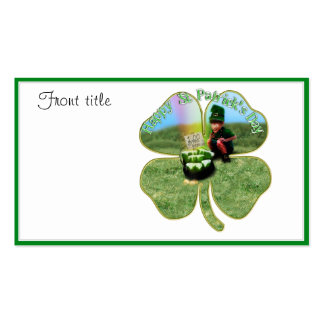 St. Patrick's Day Lucky Pot o' Beer Double-Sided Standard Business Cards (Pack Of 100)