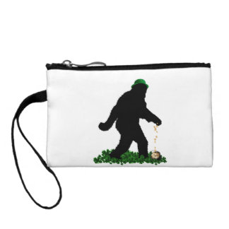 St Patrick's Day Lucky Sasquatch Coin Purses