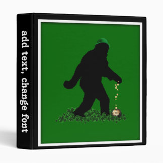 St Patrick's Day Lucky Sasquatch Vinyl Binder