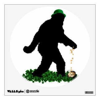 St Patrick's Day Lucky Sasquatch Wall Decal