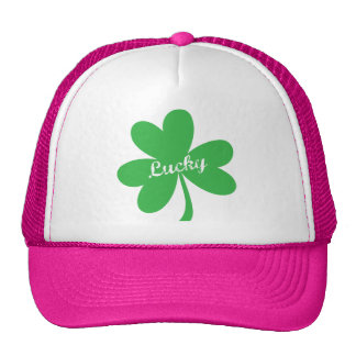 St. Patrick's Day Lucky Shamrock Trucker Hat