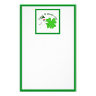 St Patrick's Day Lucky Snowman Stationery Design