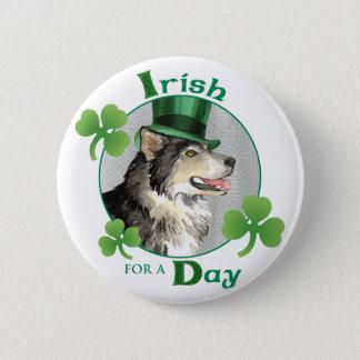 St. Patrick's Day Malemute Button