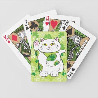 St. Patrick's Day Maneki Neko (Lucky Cat) Bicycle Playing Cards