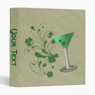 St Patrick's Day Martini Binder