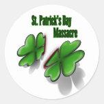 St. Patrick's Day massacre Round Stickers