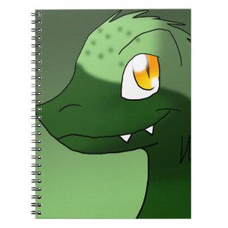 St. Patrick's Day Microraptor Spiral Notebook