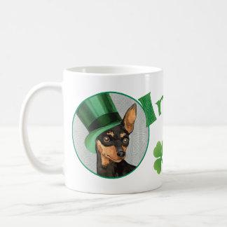 St. Patrick's Day Min Pin Coffee Mug