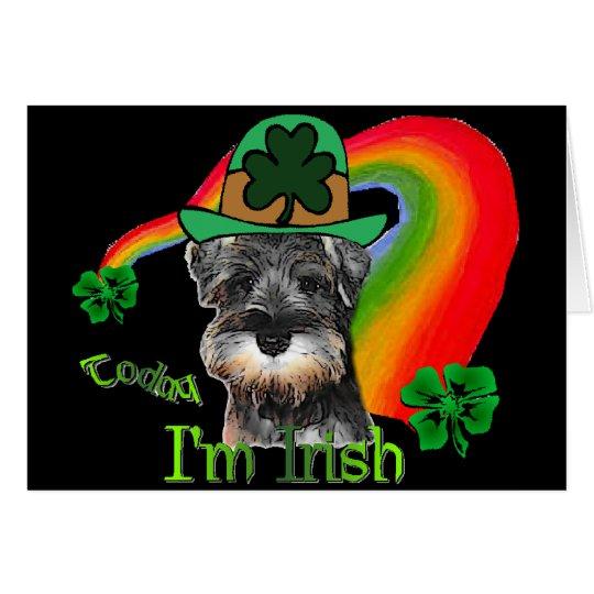 St. Patricks Day Mini Schnauzer Card