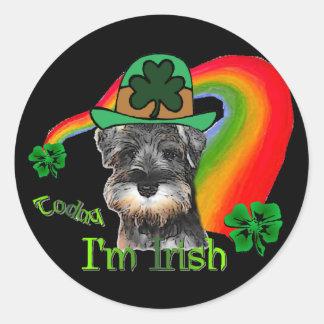 St. Patricks Day Mini Schnauzer Stickers