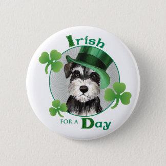 St. Patrick's Day Miniature Schnauzer Pinback Button
