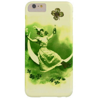 ST PATRICK'S  DAY MOON LADY WITH SHAMROCKS BARELY THERE iPhone 6 PLUS CASE