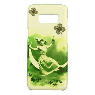 ST PATRICK'S  DAY MOON LADY WITH SHAMROCKS Case-Mate SAMSUNG GALAXY S8 CASE