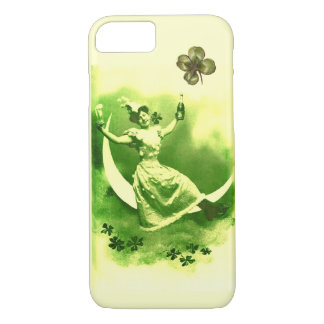 ST PATRICK'S  DAY MOON LADY WITH SHAMROCKS iPhone 7 CASE