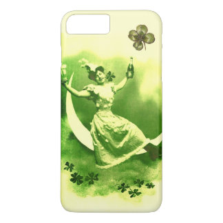 ST PATRICK'S  DAY MOON LADY WITH SHAMROCKS iPhone 8 PLUS/7 PLUS CASE