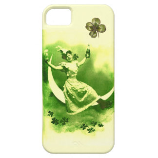 ST PATRICK'S  DAY MOON LADY WITH SHAMROCKS iPhone SE/5/5s CASE