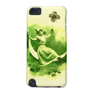 ST PATRICK'S  DAY MOON LADY WITH SHAMROCKS iPod TOUCH (5TH GENERATION) COVER