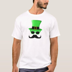 St. Patrick's Day Moustache Top Hat Men Shirt at Zazzle