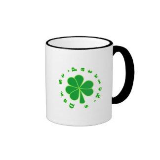 St Patrick's Day Ringer Coffee Mug