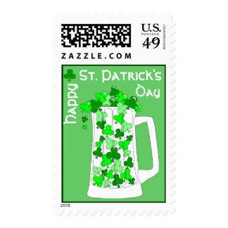 St. Patrick's Day Mug of Shamrocks Stamp