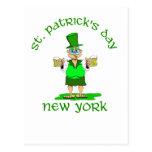 st patricks day new york gladys post card