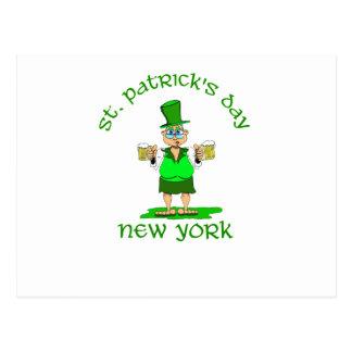 st patricks day new york gladys postcard