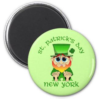 St Patricks Day ~ New York lil Blarney 2 Inch Round Magnet