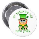 St Patricks Day ~ New York lil Blarney Button