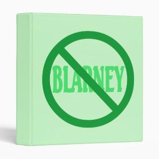 St. Patrick's Day No Blarney Allowed 3 Ring Binder