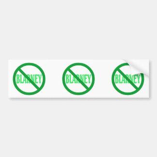 St. Patrick's Day No Blarney Allowed Car Bumper Sticker