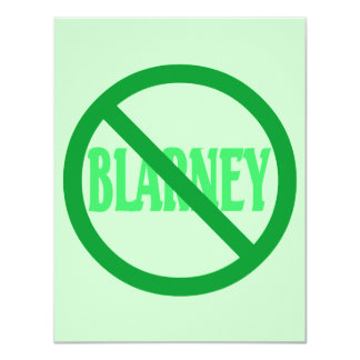 St. Patrick's Day No Blarney Allowed Card