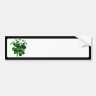 St Patrick's Day  - Official Drinking Team Car Bumper Sticker