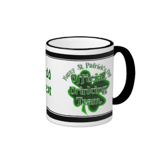 St Patrick's Day  - Official Drinking Team Ringer Coffee Mug