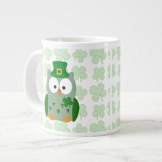 St. Patrick's Day Owl 20 Oz Large Ceramic Coffee Mug