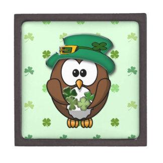 St. Patrick's Day owl Jewelry Box