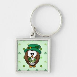 St. Patrick's Day owl Keychain