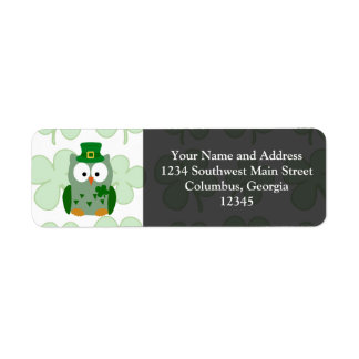 St. Patrick's Day Owl Labels