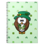St. Patrick's Day owl Note Book